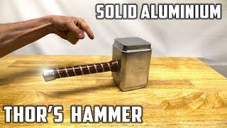 Casting Thor's Hammer from Molten Aluminium Foil Balls - Avengers Infinity War Theme width=