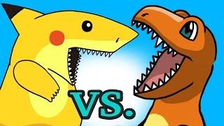 "getlinkyoutube.com-POKEMON ""My Cute Shark Attack Cartoon"" #28 SHARK PIKACHU vs. DINO CHARMANDER!) Pokemon GO parody!"