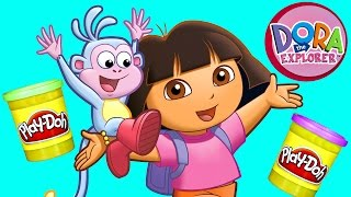 JUMBO DORA THE EXPLORER Toy Episodes! Play Doh Dora and Friends Videos!