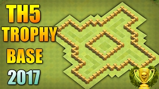 TOWN HALL 5 TROPHY + FARMING BASE 2017 ♦ BEST TH5  BASE ANTI GIANT & BALLOON | CLASH OF CLANS