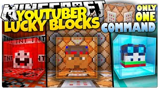 Minecraft | YOUTUBER LUCKY BLOCKS | DanTDM, ExplodingTNT, Logdotzip | Custom Command