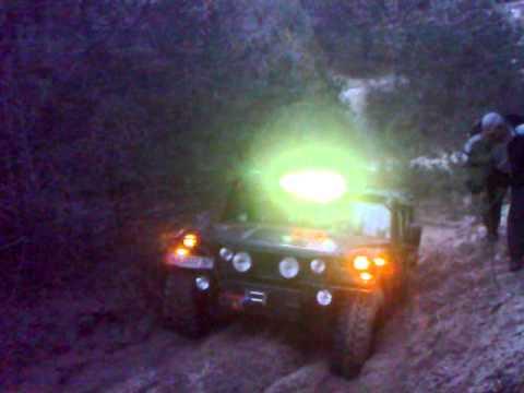 Hummer H1 штурмует подъем 4x4 Предновогодняя покатуха .OffroadmasteR