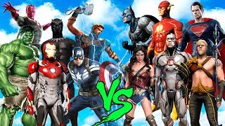 JUSTICE LEAQUE 2017 vs AVENGERS (FLASH,SUPERMAN,CYBORG vs IRON MAN,HULK,THOR,VISION) - EPIC BATTLE)
