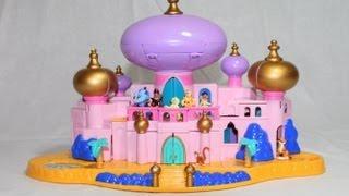 getlinkyoutube.com-Disney Jasmine's Royal Palace Aladdin's Castle Polly Pocket Castle Jafar Aladdin AllToyCollector
