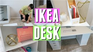 getlinkyoutube.com-IKEA DESK REVIEW, ASSEMBLY, AND DECOR!