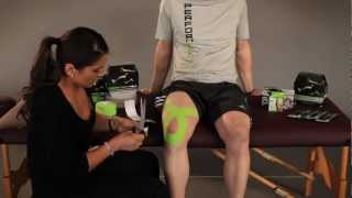 getlinkyoutube.com-PerformTex Tape.  How To Tape for Knee Pain Support