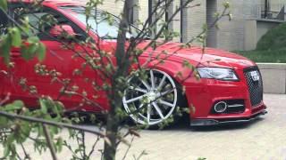 "getlinkyoutube.com-Audi A4 B8 Bagged   Vossen 20"" CVT Concave Wheels   Poland Video"