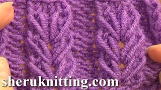 getlinkyoutube.com-Wheat Ear Loop Stitch Pattern Tutorial 6 Free Knitting Stitch Patterns For Beginners