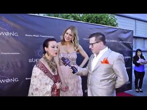 Sue Wong and Maitland Ward at the Sue Wong Fall 2014 Debut