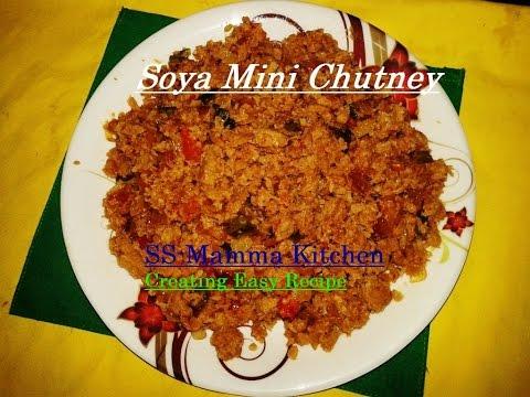Simple to cook  Soya Mini Chutney (सोया चटनी)...