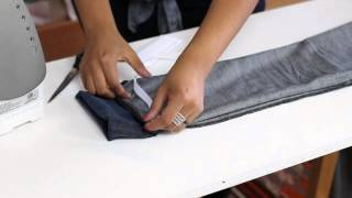 How to Hem Stretchy Jeans