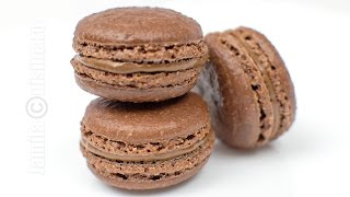 getlinkyoutube.com-Macarons cu ciocolata | JamilaCuisine
