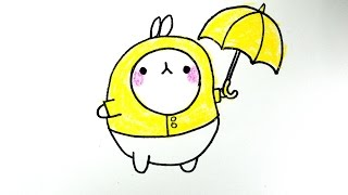 How to draw  Bunny Molang from Korea / 몰랑 몰랑이 그리기 / cute kawaii  かわいい 可愛  / 손그림  귀여운 예쁜 그림 그리는 법