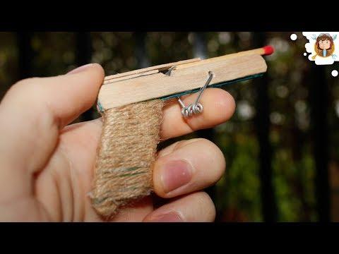 Pistola com mola de pregador de roupas - (Brinquedo Caseiro)