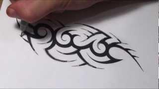getlinkyoutube.com-How To Create a Hidden Tribal Name Tattoo Design