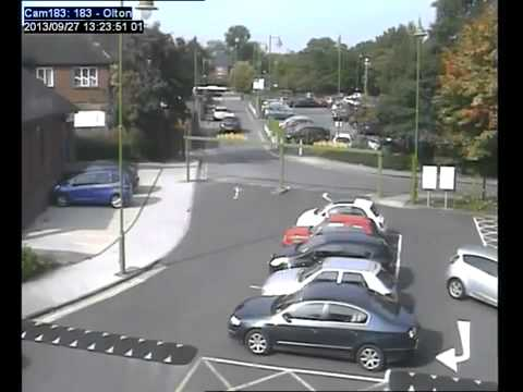 CCTV captures double collision in station car park Is this the worst parking ever