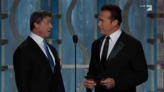 getlinkyoutube.com-Sylvester Stallone & Arnold Schwarzenegger Present at the 2013 Golden Globes