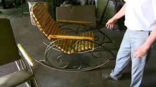 getlinkyoutube.com-+Кресло качалка кованая, ручной работы+1
