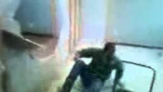 guy gets thrown through wall