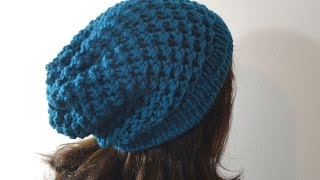 getlinkyoutube.com-How to Loom Knit a Slouchy Beanie Hat (DIY Tutorial)