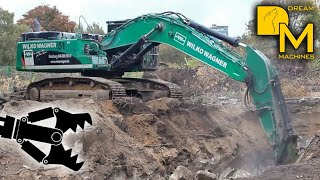 getlinkyoutube.com-ROUGH DEMOLITION - CATERPILLAR 345D EXCAVATOR DESTROYING WW2 BUNKER