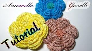 getlinkyoutube.com-Tutorial fiore uncinetto | Camelia | Crochet flower