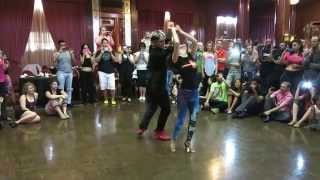 getlinkyoutube.com-Powerful Dancing! Kamacho & Shani Mayer - Zouk Demonstration at the 2014 Los Angeles Zouk Congress