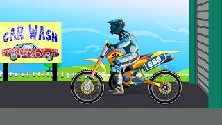 getlinkyoutube.com-Bike Car Wash | Toy Bike For Kids | Videos For Children | Baby Videos