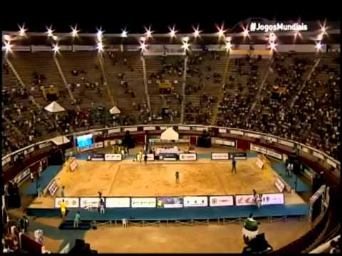 Semifinal Croacia-Brasil. Balonmano Playa. World Games 2013.