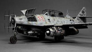 getlinkyoutube.com-Messerschmitt Me-262 Hobby Boss 1:48  Step by Step