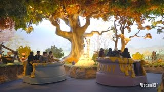 getlinkyoutube.com-[4K] Pooh's Hunny Hunt Ride - Amazing Trackless Ride -  Tokyo Disneyland 2016