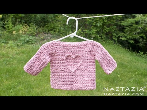 Learn How to Crochet an Easy Baby or Child T Sweater - Collab with Underground Crafter