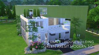 getlinkyoutube.com-The Sims 4 - House Building - Green Aresit Modern SQ