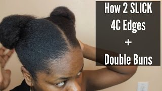 getlinkyoutube.com-How to Slick 4C Edges + Sleek Space Bun Tutorial|| BeautifulEntity