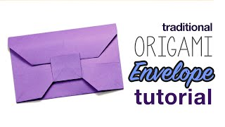 getlinkyoutube.com-Traditional Origami Envelope Tutorial