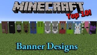 getlinkyoutube.com-Minecraft: Top 10 Banner Designs