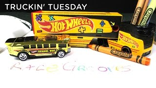 Truckin' Tuesday Pencil Pusher Hot Wheels Super Rig Truckin Transporter Coloring with Crayons