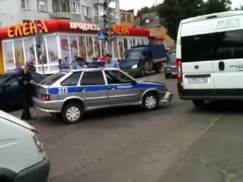 ДТП с участием полиции в Калуге