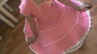 getlinkyoutube.com-Crochet Baby dress| Free |Crochet Patterns| 562
