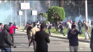 Students Clash With Police in Egypt