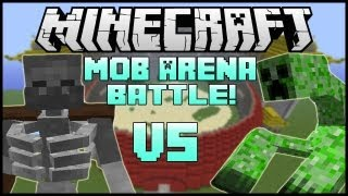 "getlinkyoutube.com-""MUTANT CREEPER VS. MUTANT SKELETON"" - Minecraft: Mob Battle Arena! (Mutant Creatures Mod)"