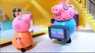 getlinkyoutube.com-Свинка  Пеппа. Новая мебель для загородного домика. Peppa Pig.
