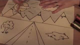 getlinkyoutube.com-1-Point perspective Landscape (3rd grade and up)