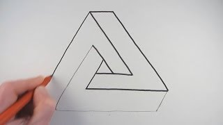 getlinkyoutube.com-How to Draw an Impossible Triangle in a Very Simple Way