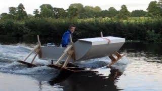 getlinkyoutube.com-Hydrofoilboat homemade