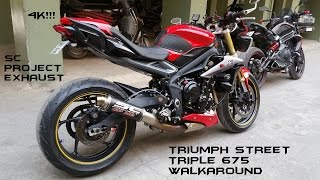 getlinkyoutube.com-Triumph Street Triple Heavily Modded Walkaround+SC Project Exhaust Sound In 4K!!!
