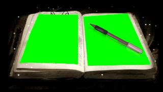 Writing Book Green Screen Animation stock footage HD