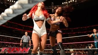 getlinkyoutube.com-Natalya, JoJo & Eva Marie vs. Alicia Fox, Aksana & Rosa: Raw, Oct. 7, 2013