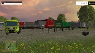 getlinkyoutube.com-Farming Simulator 2015 Man 8X8 Truck + Tippers Mod Pack