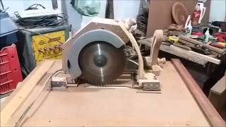 como adaptei minha serra circular em uma serra de bancada